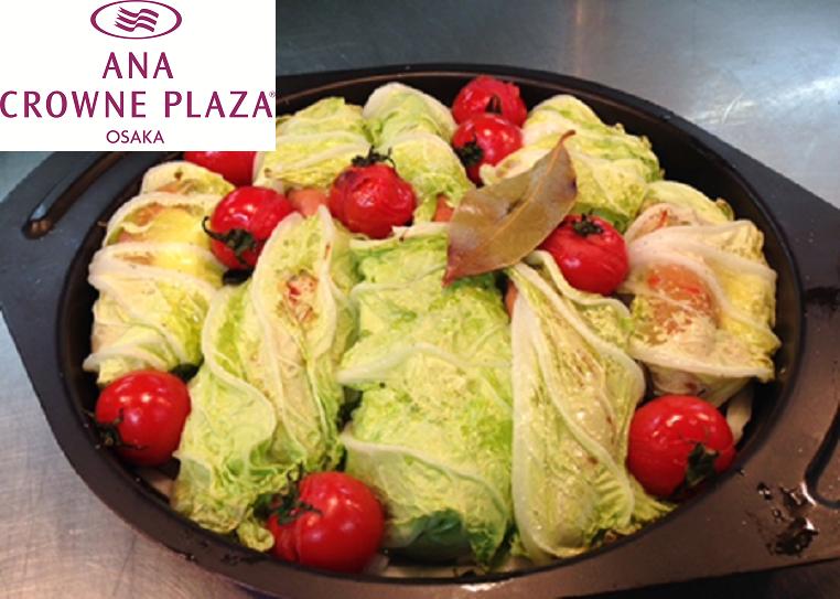 ソーセージとモッツァレラチーズのロール白菜(ANA)
