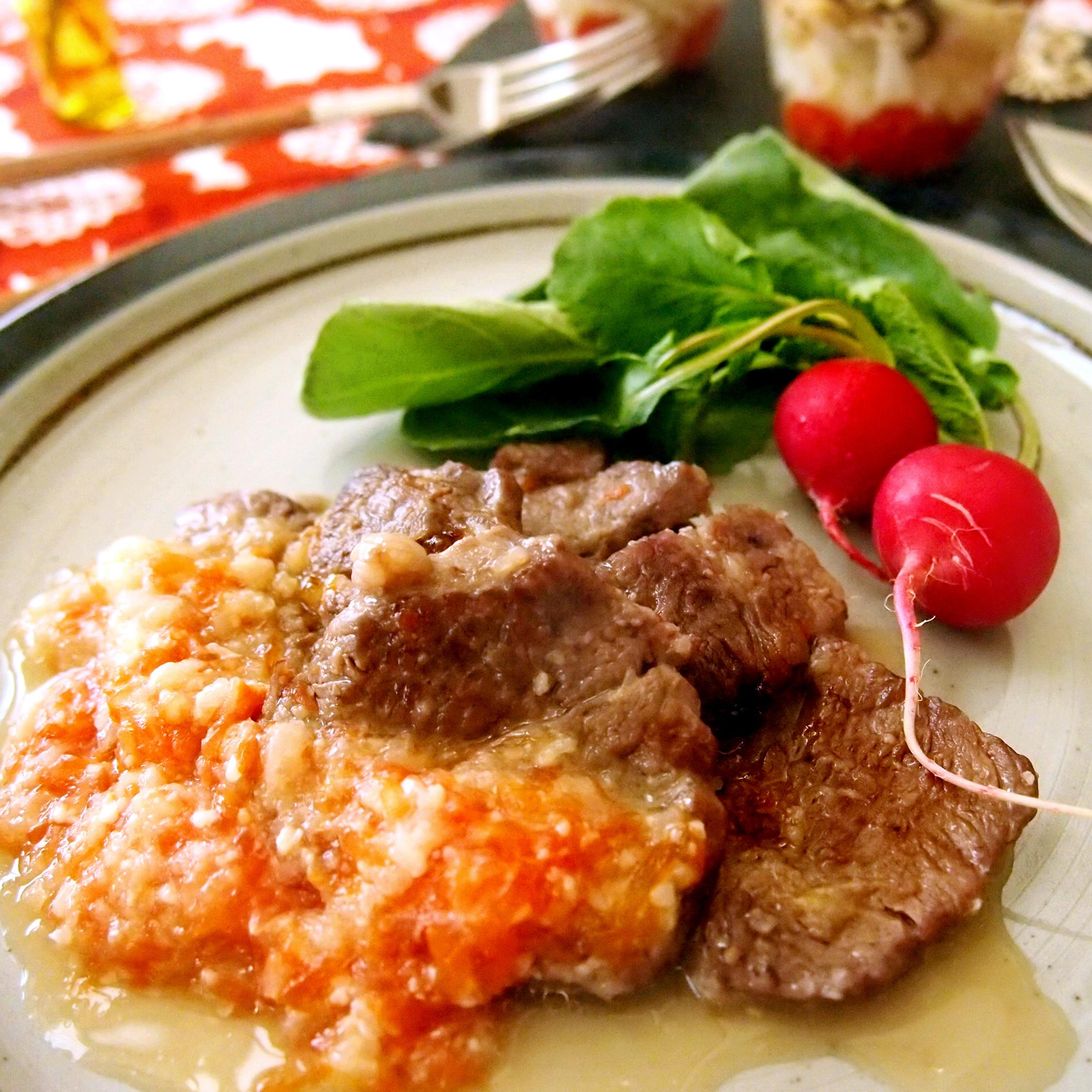 ラム肉のグリルグレープフルーツソース