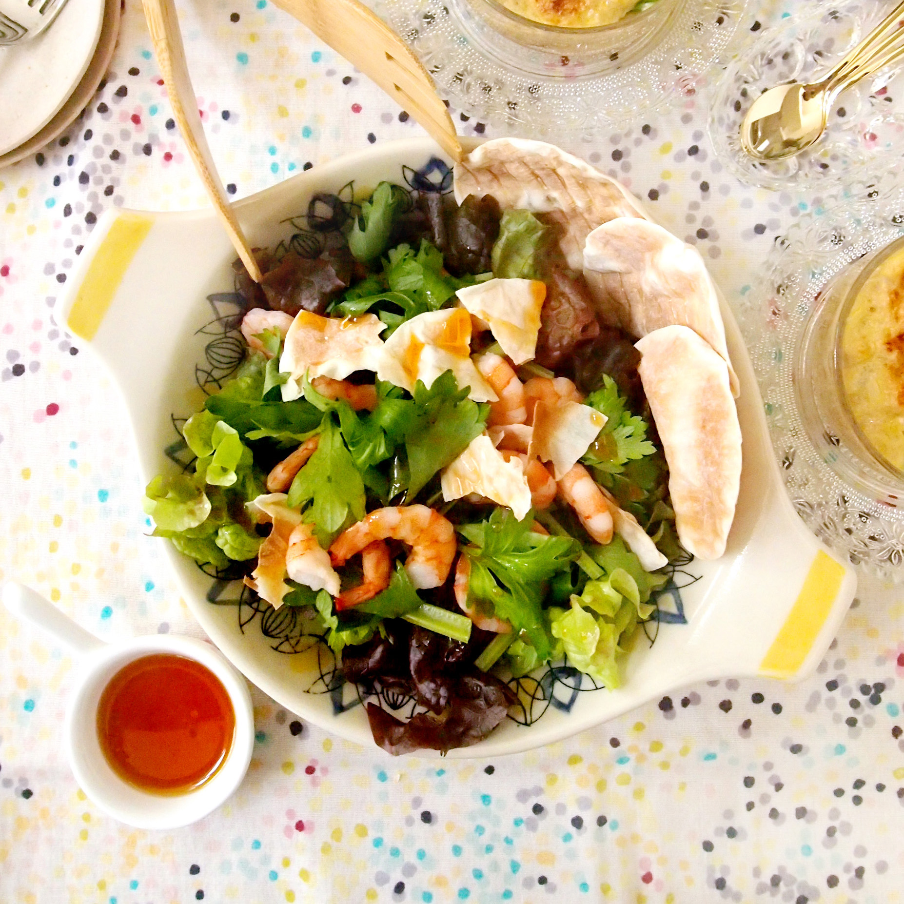 海老とセロリのパリパリサラダ