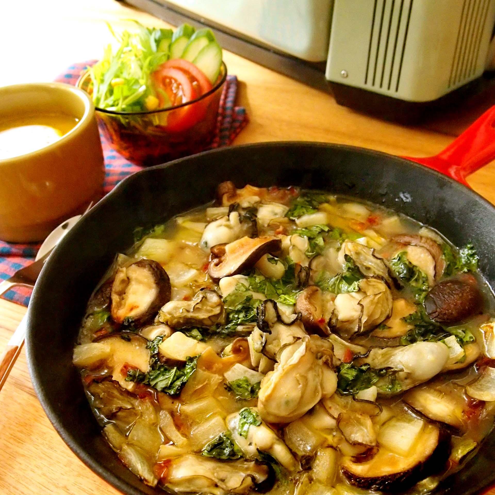 牡蠣とドライトマトのイタリアングリル