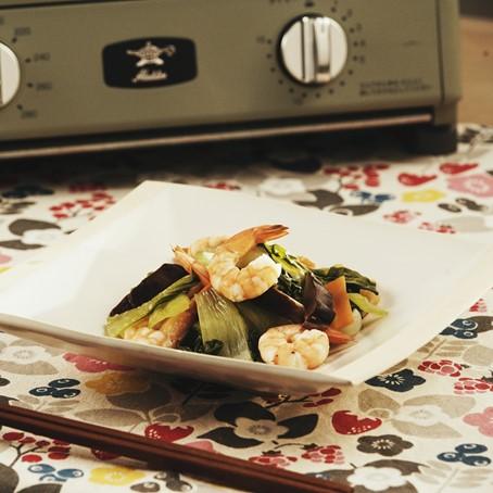 えびとチンゲン菜の煮もの