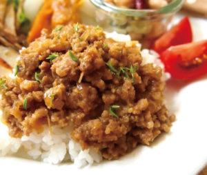 甘辛カレーそぼろご飯