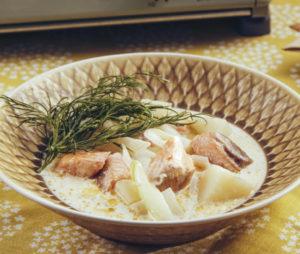 北欧風サーモンスープ
