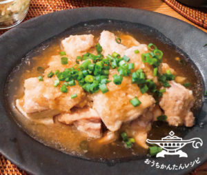 鶏もものにんにくおろし煮