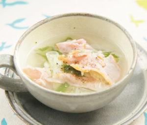 セロリと生ハムのスープ