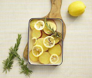 さつまいもの蜂蜜レモン煮