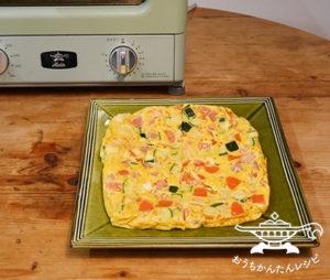 ズッキーニとトマトのスパニッシュオムレツ